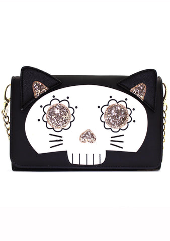 LBSugar Skull Kitty Cat Crossbody Bag
