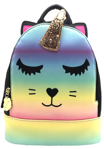 Betsey Johnson LBZAD 3D Unicorn Kitty Mini Backpack