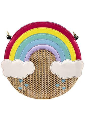 Betsey Johnson LBCloud Weave the Rainbow Crossbody