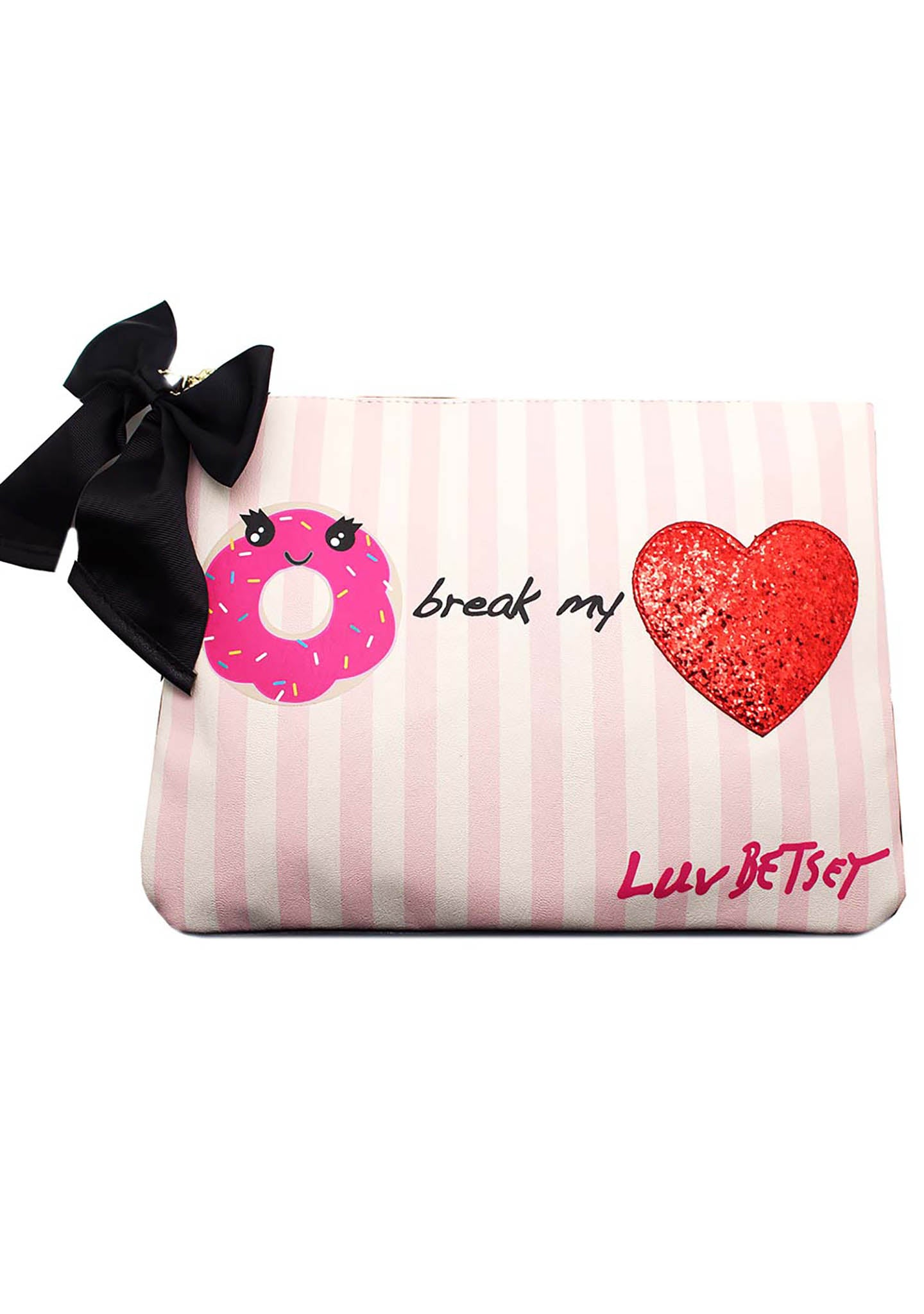 Betsey Johnson Donuts Heart Clutch Bag