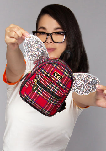 Plaid Babe Winged Mini Backpack