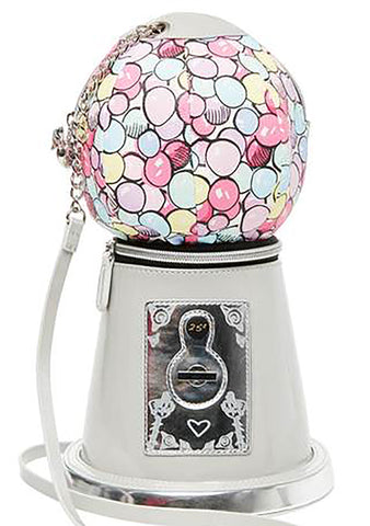 Betsey Johnson Gotta Getta Gumball Crossbody Bag in Silver