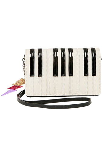 Betsey Johnson Play It Again Betsey Piano Crossbody Bag