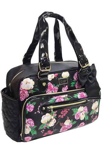 Betsey Johnson Be Mine Painted Floral Weekender Diaper Bag