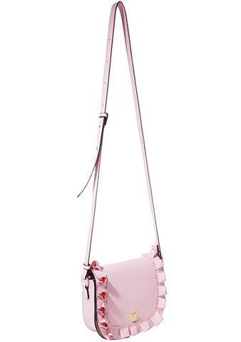 Ruffle Me Up Saddle Crossbody Bag