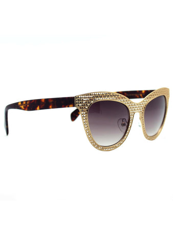 Betsey Johnson Shine Betsey Sunglasses in Gold