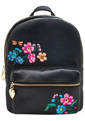 Spring Is Calling Floral Embroidered Medium Backpack