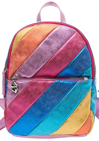 Betsey Johnson Stripe Hype Mini Backpack