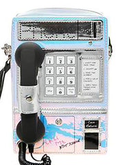 Betsey Johnson Kitsch Phone Tag Crossbody in Multi