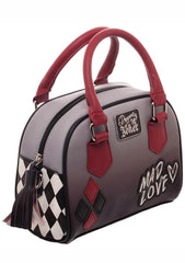 X DC Comics Harley Quinn Mad Love Mini Bowler Bag