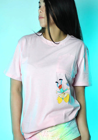 X Nickelodeon Hey Arnold Falling Pocket Tee