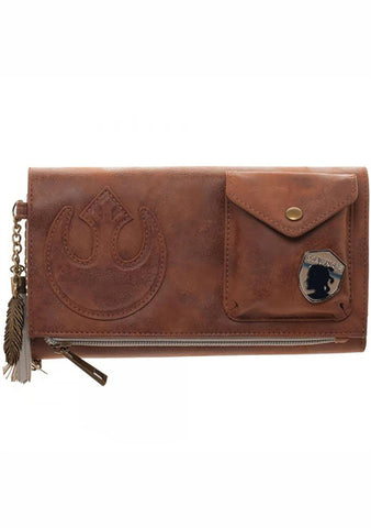 X Star Wars Episode 8 Rebel Wallet On String Bag