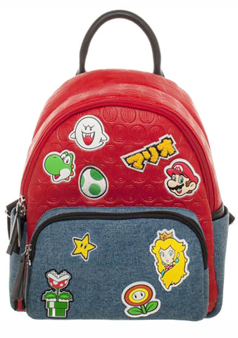 X Nintendo Super Mario Brothers Patches Mini Backpack
