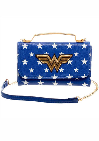 X DC Comic Wonder Woman Wallet On String Bag