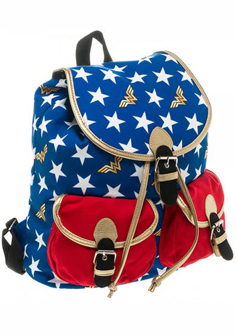 BIOWORLD X DC Cosmic Wonder Woman Canvas Backpack