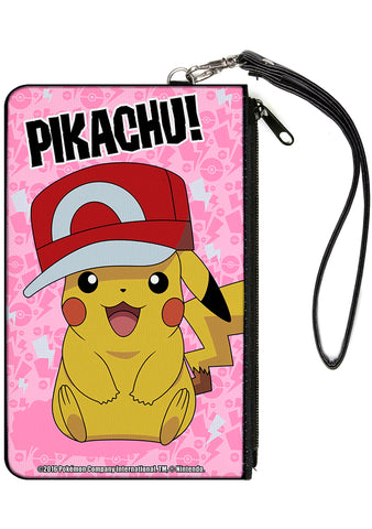Buckle Down X Pikachu Sitting Kalos Hat Canvas Zip Wallet