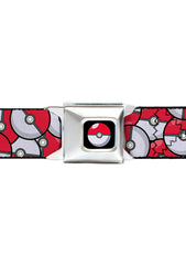Buckle Down X Pokemon Poke Ball Stacked Seatbelt Belt