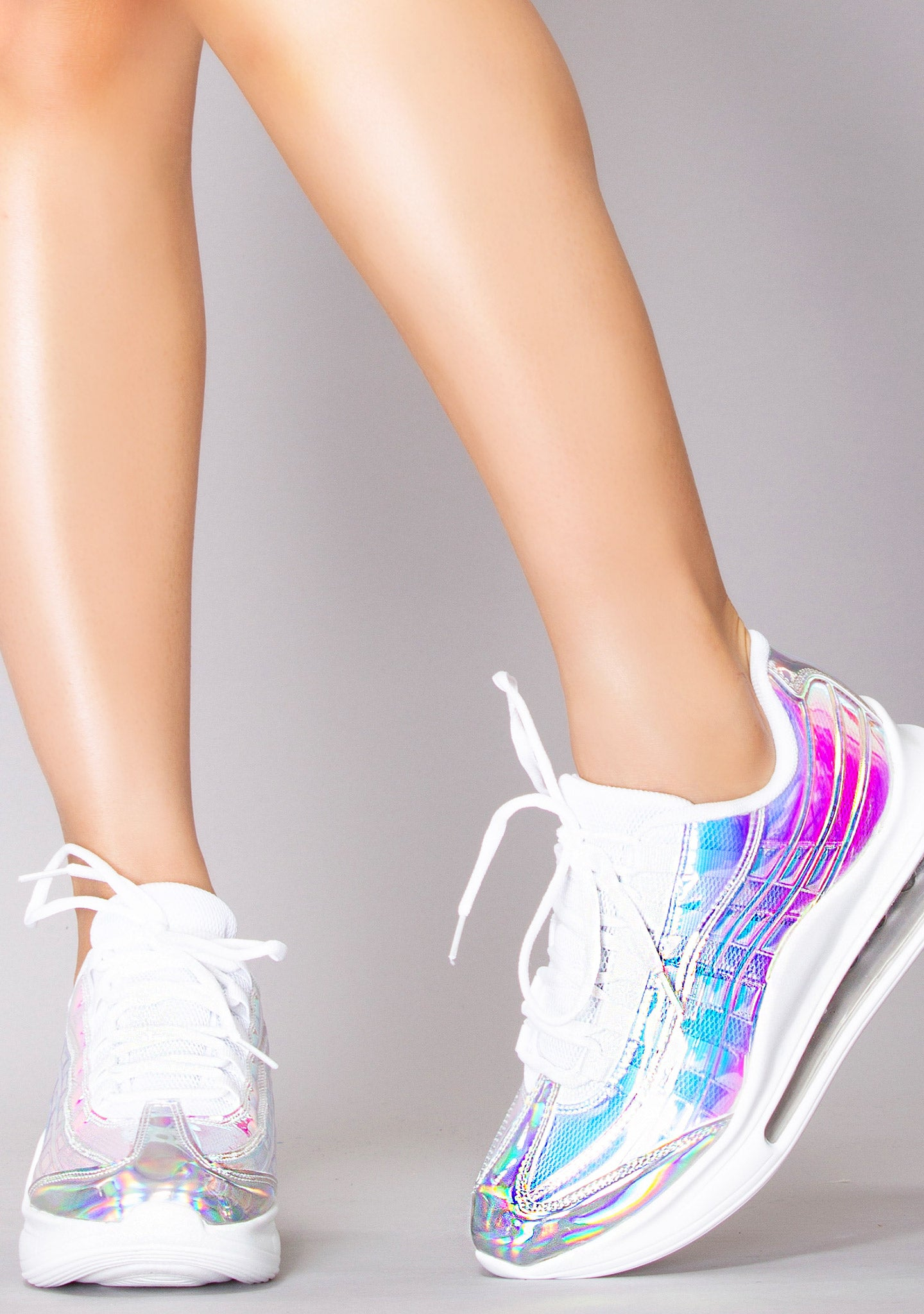 Electric Downshifter Holographic Sneakers