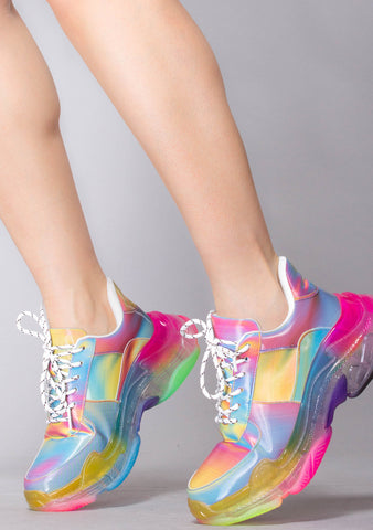 Rainbow Acid Lenticular Sneakers