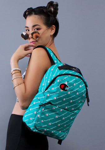 Champion Mini Advocate Backpack in Teal in Navy