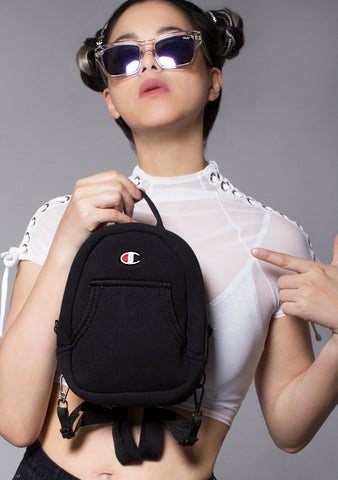 Champion Reverse Weave Mini Convertible Backpack in Black