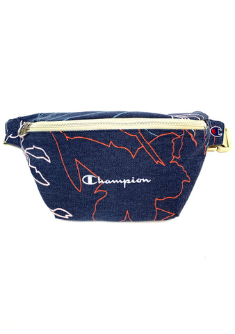Champion Sun Bleached Fanny Pack in Navy