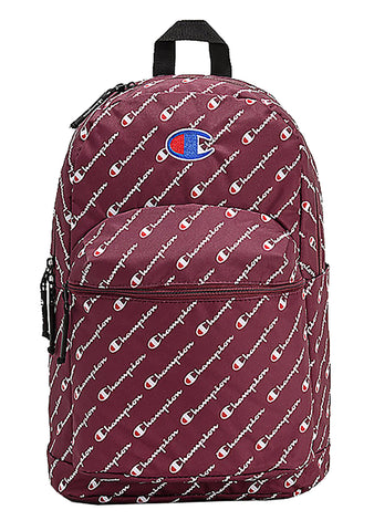Supercize Logo Script Backpack in Maroon