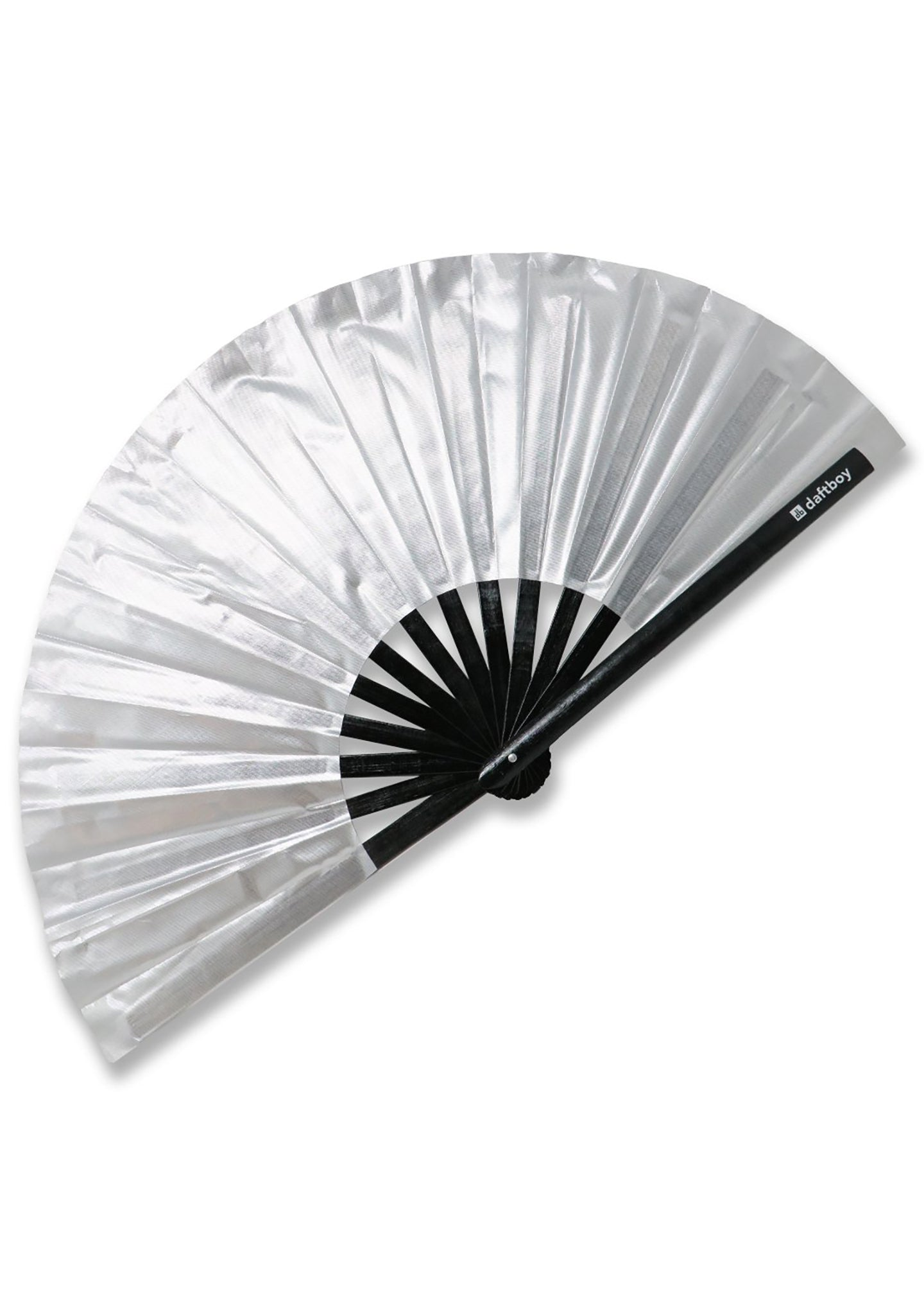 Beyond Basic Metallic Chrome Silver Fan