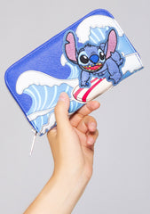 X Disney Lilo and Stitch Surfing Zip Wallet