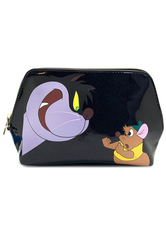 X Disney Cinderella Lucifer Gus Cosmetic Festival Makeup Bag