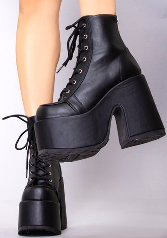 Here for Trouble Platform Boots