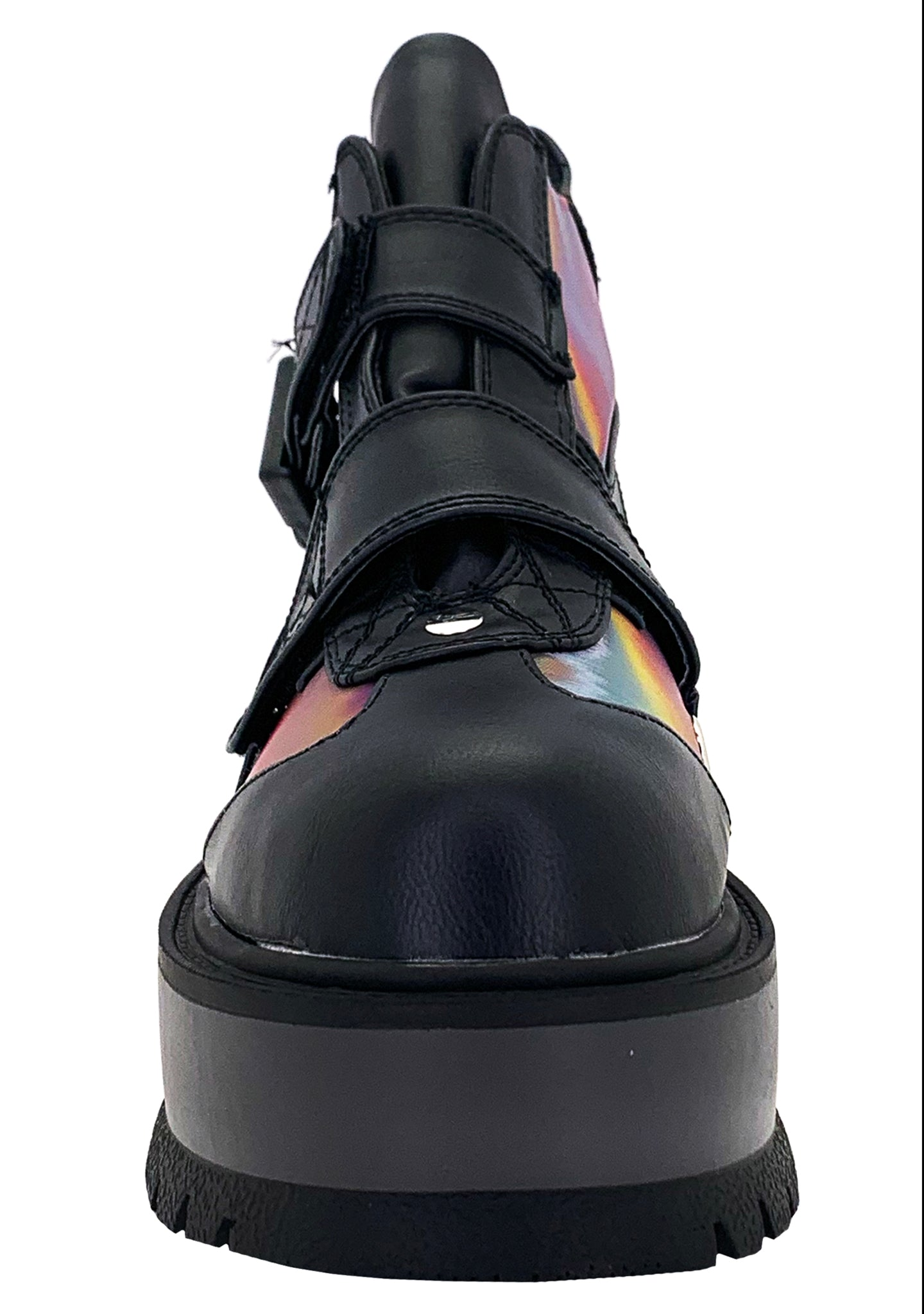 Prismatic Abstract Lenticular Platform Boots