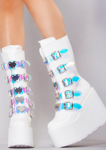 Thing Called Love Multi Strapped Platform Boots