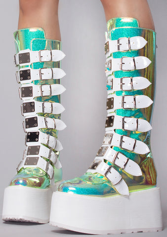 Cyber Space UV Platform Boots