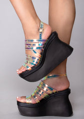 Pace Yourself Platform Wedge Sandals