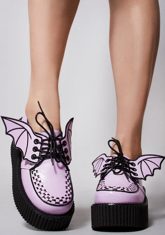 Pixie Blood Creeper Platform Sneakers in Lavender
