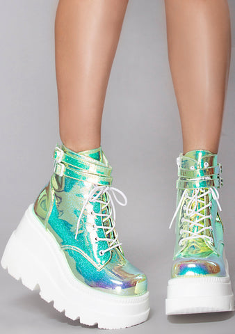 Techno Wave Platform Boots