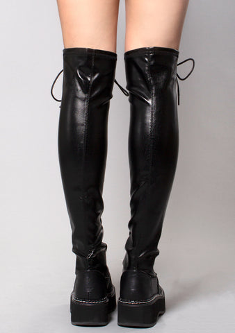 Demonia The Strange and Unusual Emily Boots in Black