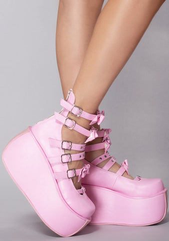 Darling Violet Platform Wedge Heels