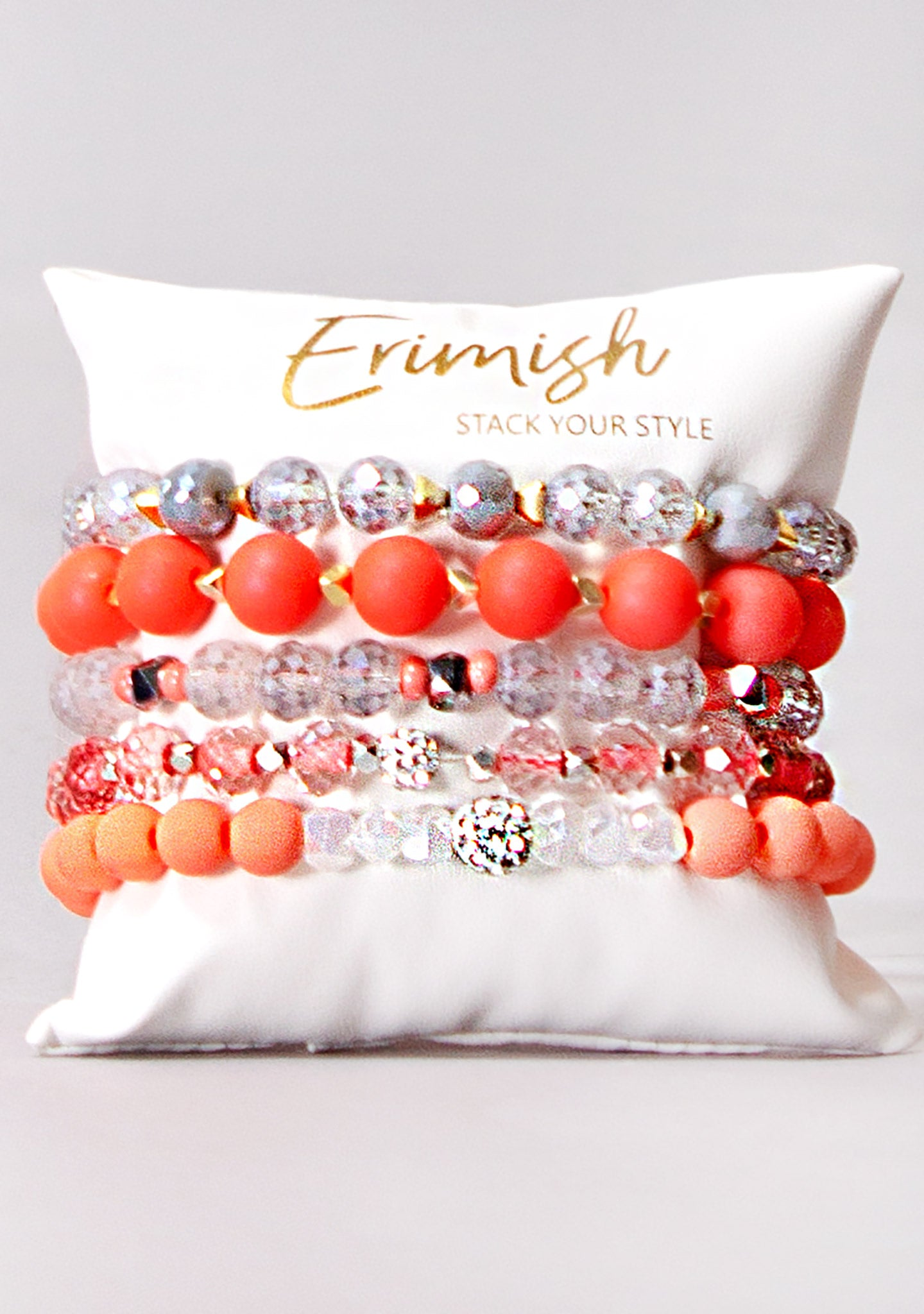 Orange Pop Bracelet Stack