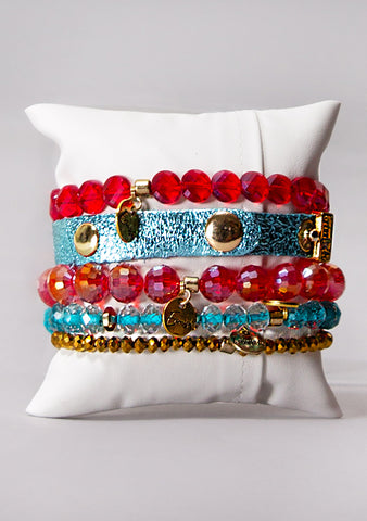 Sugar and Spice Bracelet Stack