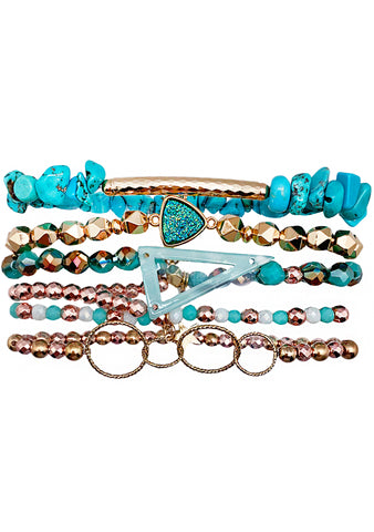 90's Chix Blue Crush Stacked Bracelet