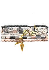 Erimish 90's Chix Slayer Stacked Bracelet