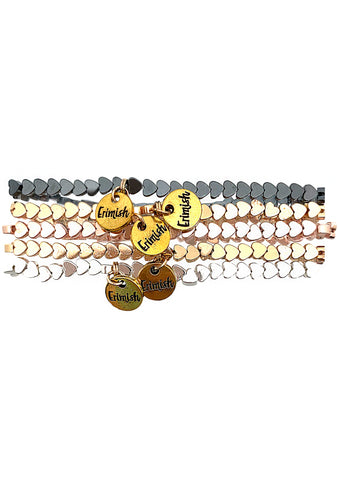 Erimish 90's Chix Sugar My Heart Stacked Bracelet