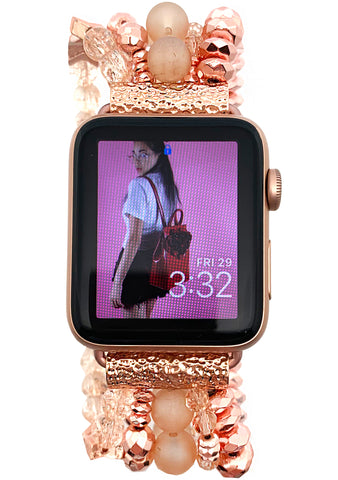 Into the Sky Pink Serenity Apple Watch Band