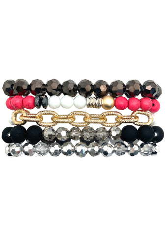 Chained to the Rhythm Bracelet Stack
