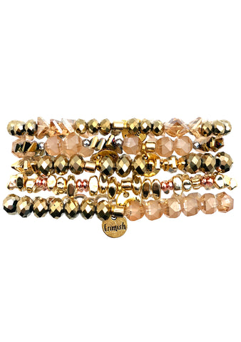 Champagne and Spice Bracelet Stack