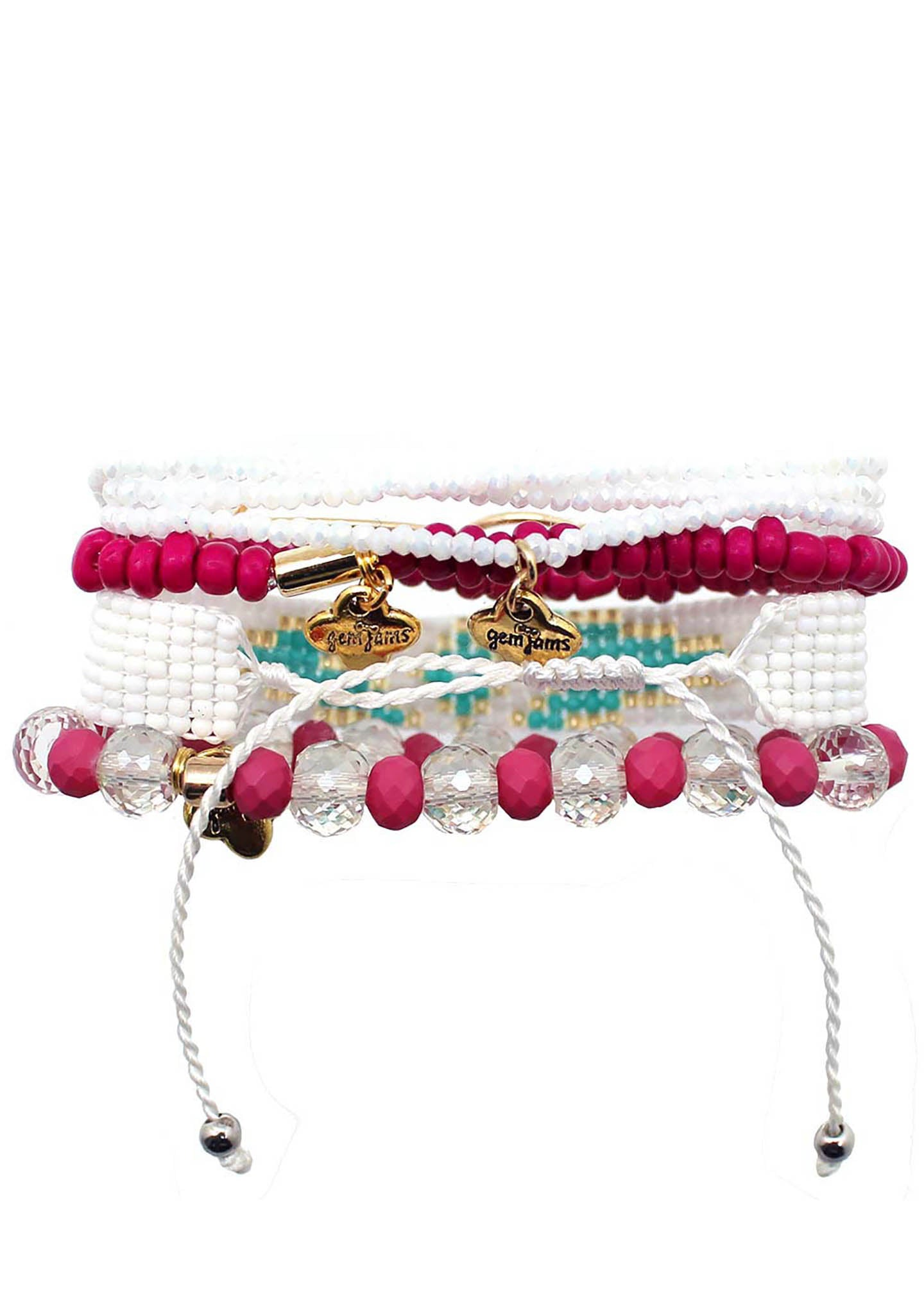 Erimish Gem Jam Butterfly Kisses Bracelet Stack