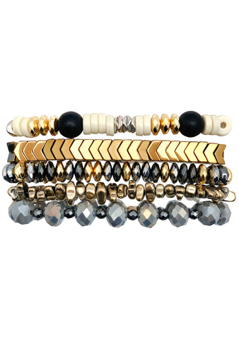 Golden Rain Bracelet Stack
