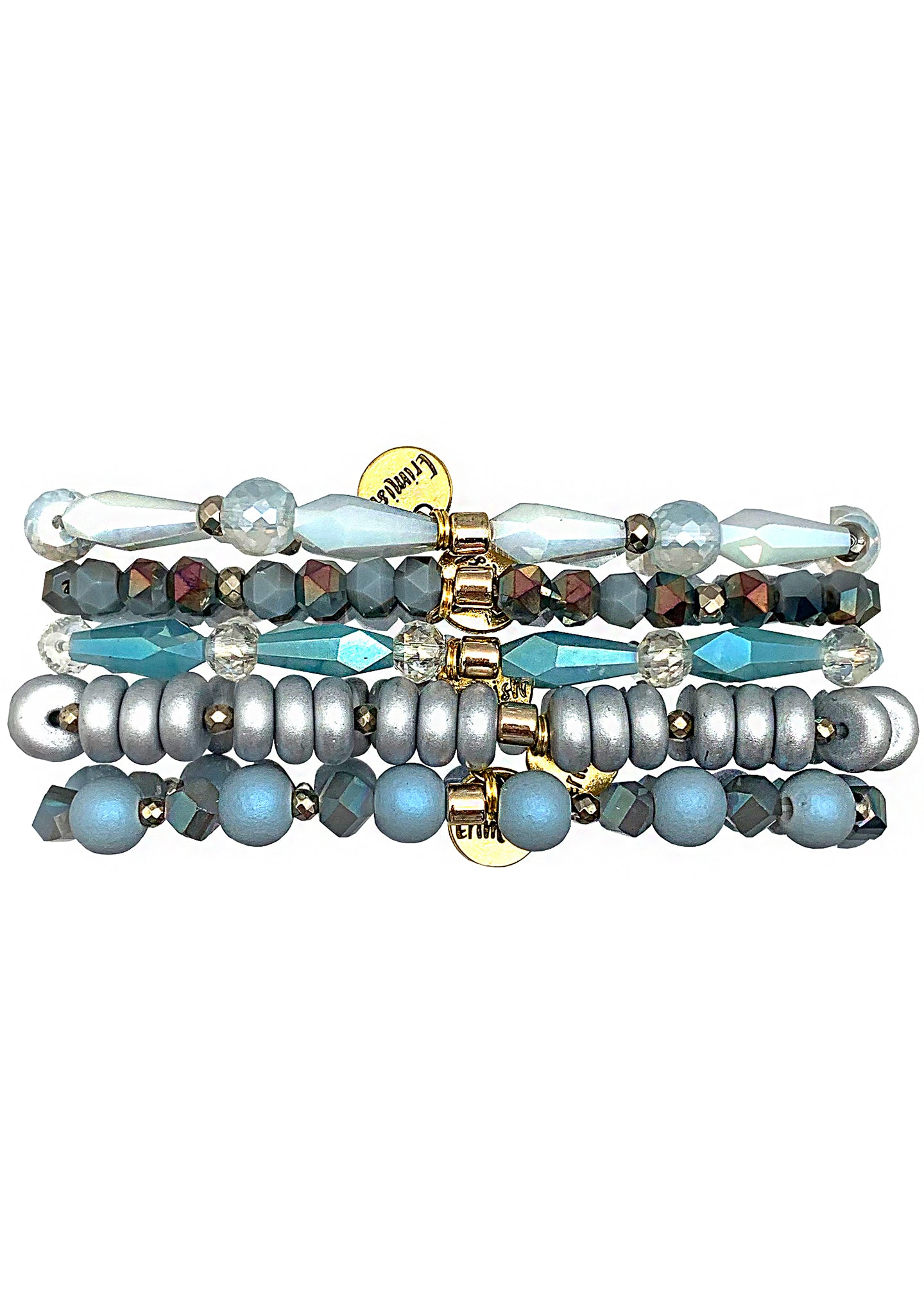 Erimish Gypsy Glow Ice Queen Stacked Bracelet